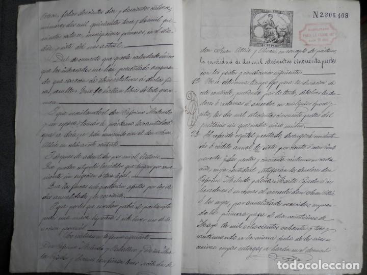 Manuscritos antiguos: MANUSCRITO AÑO 1882 FISCALES 4º Y 11º HABILITADOS ATECA ZARAGOZA ESCRITURA PRÉSTAMO 10 PÁGS - Foto 2 - 269167753