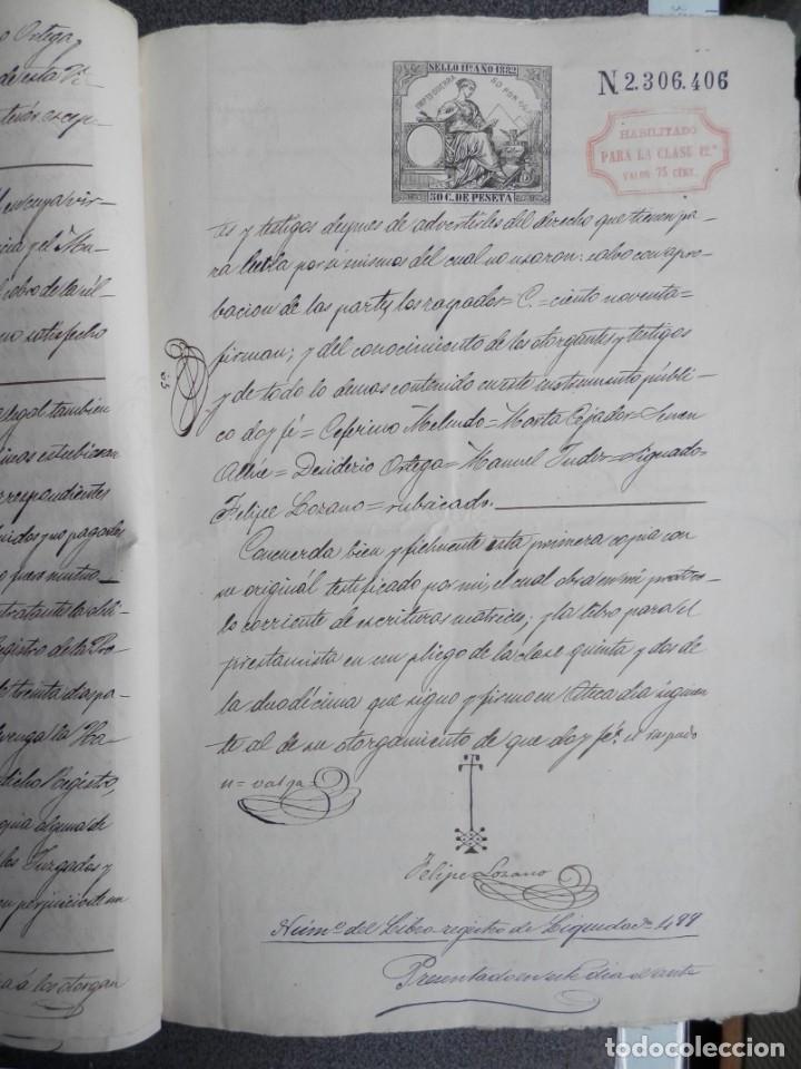 Manuscritos antiguos: MANUSCRITO AÑO 1882 FISCALES 4º Y 11º HABILITADOS ATECA ZARAGOZA ESCRITURA PRÉSTAMO 10 PÁGS - Foto 3 - 269167753