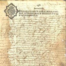 Manuscritos antiguos: AÑO 1640. SELLO 4º. PAPEL SELLADO FISCAL. DOCUMENTO MANUSCRITO, 10 MARAVEDIS. REINADO DE FELIPE IV. Lote 269189048