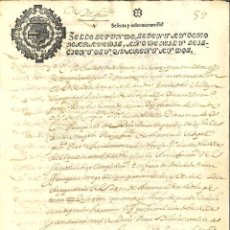 Manuscritos antiguos: AÑO 1642. SELLO 2º. PAPEL SELLADO FISCAL. DOCUMENTO MANUSCRITO, 68 MARAVEDIS. REINADO DE FELIPE IV. Lote 269189388