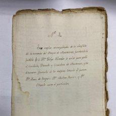 Manoscritti antichi: DUQUE DE MONTEMAR. CLAUSULAS. TESTAMENTO. ARBOL GENEALOGICO. VER/LEER. Lote 269349523