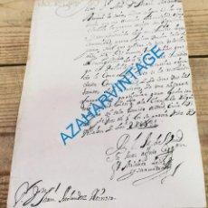Manuscrits anciens: VILLALON DE CAMPOS, VALLADOLID, 1731, CARTA COMUNICANDO NEGATIVA A VENDER LEÑA. Lote 269384363
