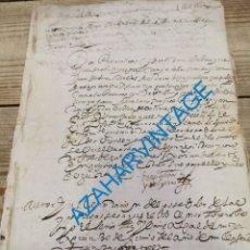 Manuscritos antiguos: 1653, DOCUMENTO FIRMADO POR DON PEDRO SALINAS, ALFEREZ MAYOR Y REGIDOR PERPETUO DE SEPULVEDA. Lote 269633633