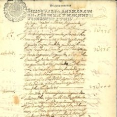 Manuscritos antigos: AÑO 1656. SELLO 4º. PAPEL SELLADO FISCAL. DOCUMENTO MANUSCRITO, 10 MARAVEDIS. REINADO DE FELIPE IV. Lote 269644003