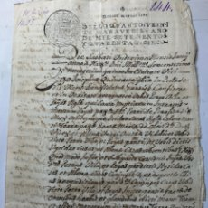 Manuscritos antiguos: DOCUMENTO MANUSCRITO 1700. Lote 270248013