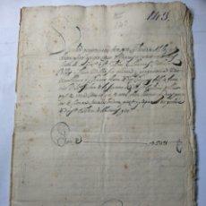 Manuscritos antiguos: DOCUMENTO MANUSCRITO 1694. Lote 270248128