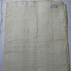 Manuscritos antiguos: DOCUMENTO MANUSCRITO 1700. Lote 270248228