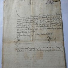 Manuscritos antiguos: DOCUMENTO MANUSCRITO 1688. Lote 270248348