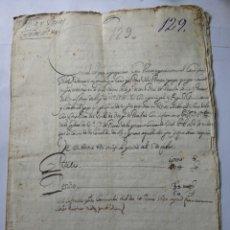 Manuscritos antiguos: DOCUMENTO MANUSCRITO 1688. Lote 270248533