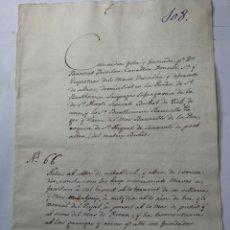 Manuscritos antiguos: DOCUMENTO MANUSCRITO 1677. Lote 270248873
