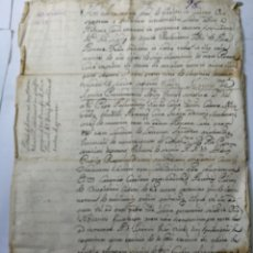 Manuscritos antiguos: DOCUMENTO MANUSCRITO 1672. Lote 270248928