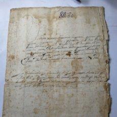 Manuscritos antiguos: DOCUMENTO MANUSCRITO 1658. Lote 270249038