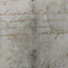 Manuscritos antiguos: DOCUMENTO MANUSCRITO 1655. Lote 270249078