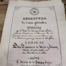 Manuscritos antiguos: 1870, ESCRITURA DE VENTA DE TIERRAS EN EL VARRIO, SEBULCOR, SEGOVIA, 10 PAGINAS. Lote 271056358