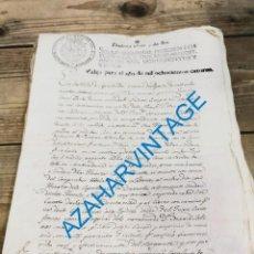 Manuscritos antiguos: TIMBROLOGIA, SELLO SEGUNDO HABILITADO PARA 1814, OBLIGACION DE PAGO, RARO. Lote 271089743