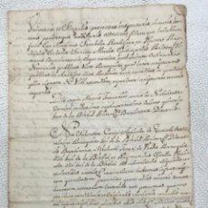 Manuscritos antiguos: MANUSCRITO DE LA BISBAL DEL PENEDES PARROQUIA SANTA MARÍA 1750.VER FOTOS.. Lote 271522428