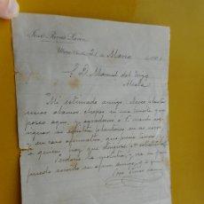 Manuscritos antiguos: ANTIGUA CARTA.JOSE RIVAS LAVIN. UTRERA SEVILLA 1901.. Lote 271702118