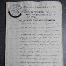 Manuscrits anciens: MANUSCRITO AÑO 1813 FISCALES GUERRA INDEPENDENCIA POBRES HABILITADOS LUJO Y RAROS MÁLAGA. Lote 271863088