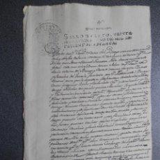 Manuscritos antiguos: MANUSCRITO AÑO 1790 FISCAL 4º GRANADA PODER NOTARIAL. Lote 271922738