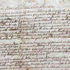 Manuscritos antiguos: MANUSCRITO DE LA BISBAL DEL PENEDÈS 1749 PARROQUIA SANTA MARÍA.. Lote 272184683