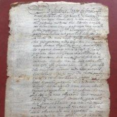 Manuscritos antiguos: MANUSCRITO EN LATÍN VILAFRANCA DEL PENEDÈS Y LA BISBAL DEL PENEDÈS. DELME. AÑO 1657.. Lote 272187853