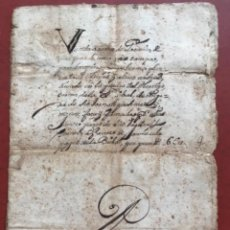 Manuscritos antiguos: MANUSCRITO VENTA DE TIERRAS LA BISBAL DEL PENEDES AÑO 1644 Y 1735.. Lote 272190463