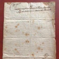 Manuscritos antiguos: MANUSCRITO TESTAMENTO ULTIMAS VOLUNTADES 1808. LA BISBAL DEL PENEDÈS.. Lote 272192083