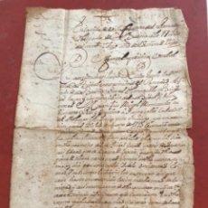 Manuscritos antiguos: MANUSCRITO DE LA BISBAL DEL PENEDÈS 1735. VENTA DE TIERRAS.. Lote 272193568