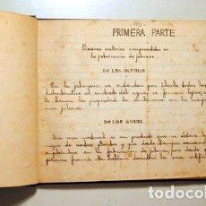 Manuscritos antiguos: JABONES Y ESENCIAS - MANUSCRITO FECHADO EN 1935. Lote 272214638