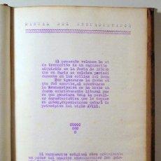Manuscritos antiguos: MANUAL DE ENCUADERNACIÓN - MECANOSCRITO 1897. Lote 272420463