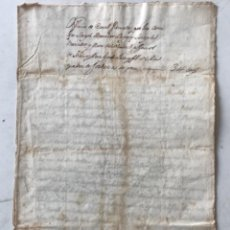 Manuscritos antiguos: MANUSCRITO VENTA CENSAL FIRMADA JOSEP MERCADER Y FAMILIA GENER. VENDRELL. BISBAL DEL PENEDÈS. 1767.. Lote 272879733