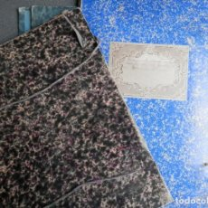 Manuscritos antiguos: TRES JUEGOS DE TAPAS CARTÓN DURO ANTIGUAS PARA ARCHIVO DE DOCUMENTOS CON CINTAS 34 X 23 CENTÍMETROS. Lote 273476503