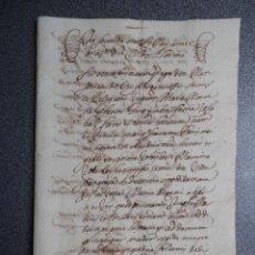Manuscrits anciens: MANUSCRITO AÑO 1653 VALENCIA APOCA EN FAVOR DEL CONDE DE VILLAFRANQUESA - 3 PÁGS. Lote 273725988