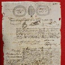 Manuscrits anciens: DOCUMENTO ESCLAVOS APUNTE NOTARIAL 2 VENTAS DE ESCLAVAS 1833 CUBA ORIGINAL D12 - 26. Lote 274236818