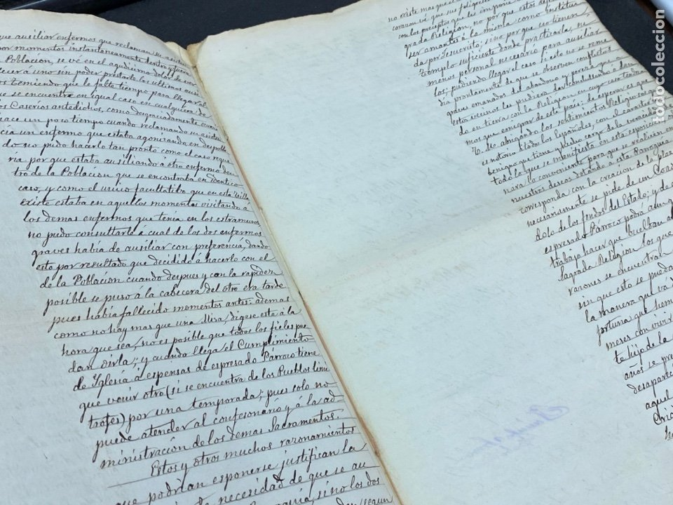 Manuscritos antiguos: 1878. FUENSANTA DE MARTOS, JAÉN. CARTA A ALFONSO XIII PARA CONSTRUIS UN NUEVO TEMPLO. FIRMAS - Foto 4 - 274248983