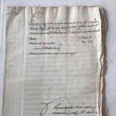 Manuscritos antiguos: MANUSCRITO 1828 VENTA ORIGINAL CREACIÓN CENSAL. LA BISBAL DEL PENEDÈS- EL MONTMELL. Lote 274322753