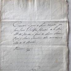 Manuscritos antiguos: MANUSCRITO 1858 CONCESIÓN TIERRAS. LA BISBAL DEL PENEDÈS.. Lote 274326033