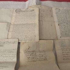 Manuscritos antiguos: ANTIGUAS ESCRITURAS MANUCRITAS DE SÁDABA ,HUESCA, AÑO 1814, 1773, 1804, 1793, 1829, 1831. Lote 275488478