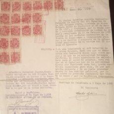 Manuscritos antiguos: DOCUMENTO ORIGINAL DE LA 106 BRIGADA MIXTA,8 DE MAYO DE 1938.. Lote 276151008