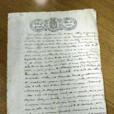 Manuscritos antiguos: CONTRATO DE COMPRAVENTA DE 1833 EN MIRA, CUENCA. MUY CURIOSO.. Lote 276443513