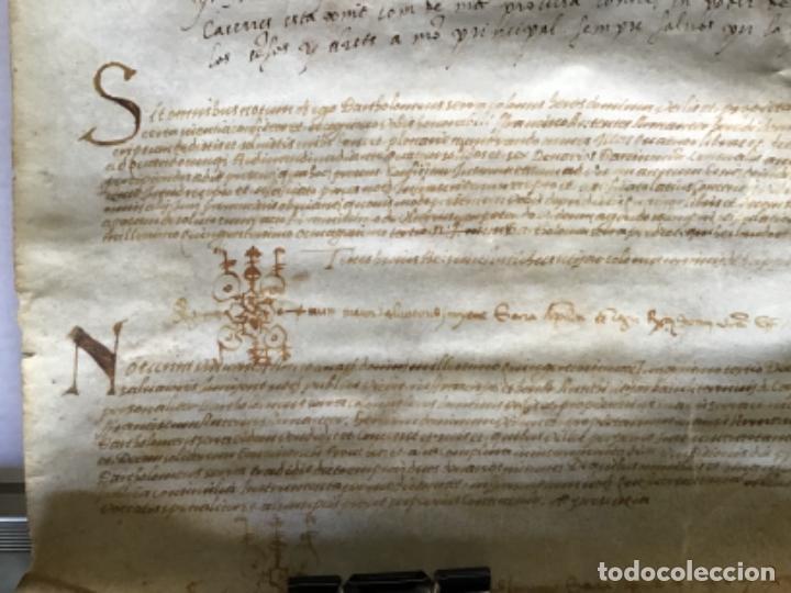 Manuscritos antiguos: [VENTA DE CENSAL.] - [MANUSCRITO.] 1583. Santa Maria del Corcó - Tavertet - Casserres - Foto 6 - 276644928
