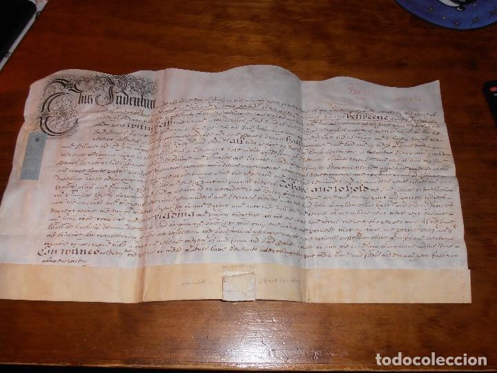 MANUSCRITO INGLES EN PERGAMINO. 1710. (Coleccionismo - Documentos - Manuscritos)