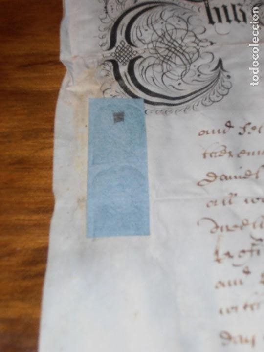 Manuscritos antiguos: MANUSCRITO INGLES EN PERGAMINO. 1710. - Foto 4 - 276909328