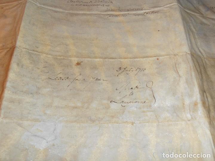 Manuscritos antiguos: MANUSCRITO INGLES EN PERGAMINO. 1710. - Foto 12 - 276909328