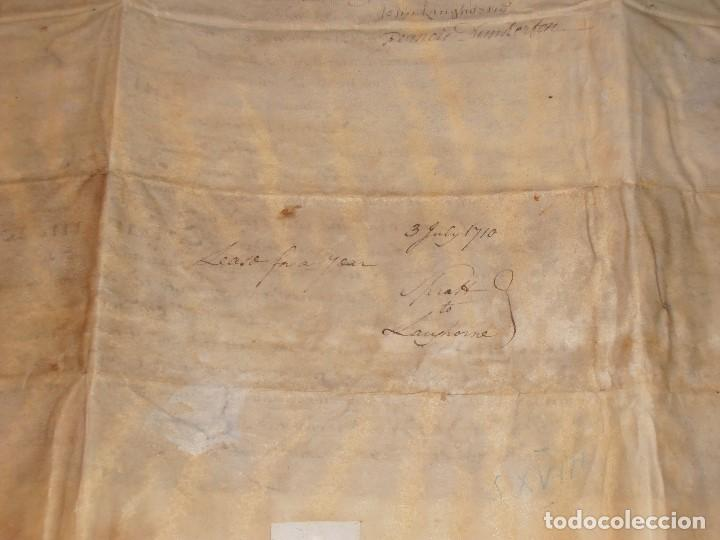 Manuscritos antiguos: MANUSCRITO INGLES EN PERGAMINO. 1710. - Foto 13 - 276909328