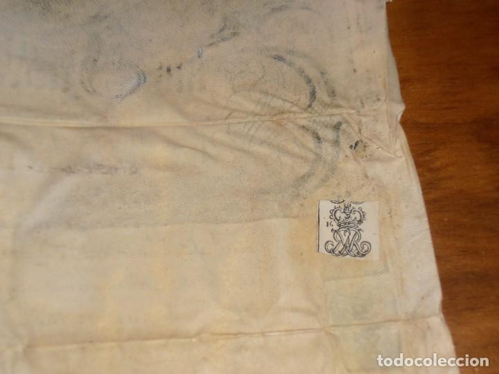 Manuscritos antiguos: MANUSCRITO INGLES EN PERGAMINO. 1710. - Foto 14 - 276909328
