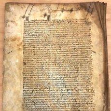 Manuscritos antigos: EJECUTORIA DE HIDALGUIA DE JUAN DE CASTILLO, VECINO DE LEIVA. LA RIOJA. AÑO 1556. Lote 276909763