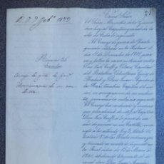Manuscrits anciens: CONDENAN A DOS CAPITANES POR SU CONDUCTA MANUSCRITO CUBA AÑO 1873. Lote 276941653