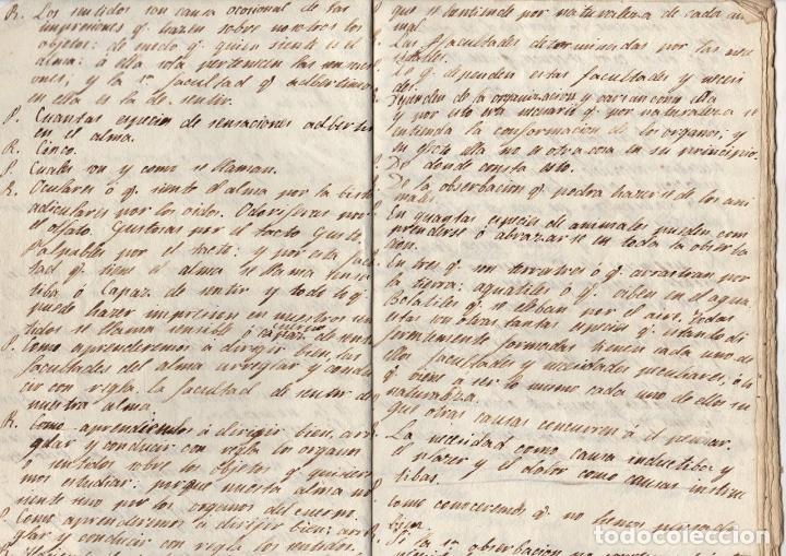 Manuscritos antiguos: MANUSCRITO FILOSOFICO LECCIONES DEL ARTE DE PENSAR. SIGLO XIX. SIN AUTOR - Foto 2 - 276992988