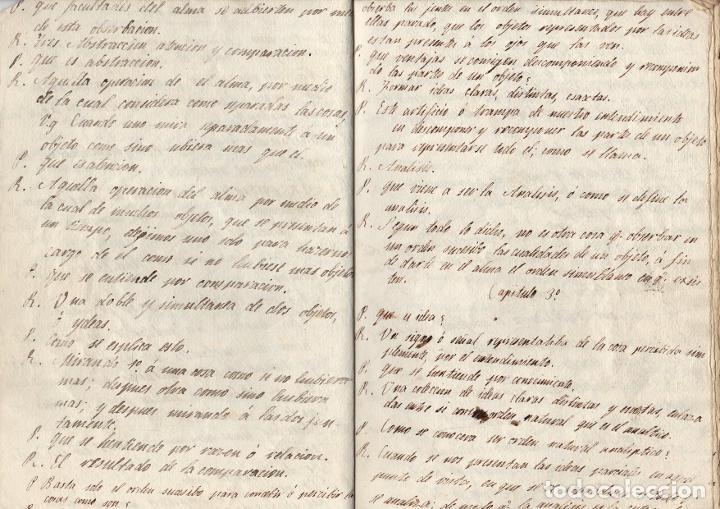 Manuscritos antiguos: MANUSCRITO FILOSOFICO LECCIONES DEL ARTE DE PENSAR. SIGLO XIX. SIN AUTOR - Foto 3 - 276992988